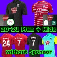 2020 2021 Granada Soccer Jerseys Men + Kids L. Suárez Kenedy 20 21 Granada CF Home Third Soldado Herrera Antonio Puertas Shirts