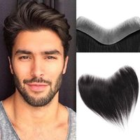 Synthetic Wigs Men Hair Pieces Skin Invisible Hairline Forehead Front Hairpiece Male Replacement System
