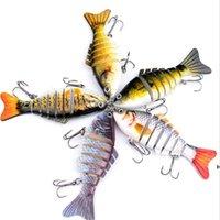 Balıkçılık Lures Wobblers Swimbait Crankbait Sert Yem Yapay Mücadele Gerçekçi Lure 7 Segment 10 cm 15.5g DHE6459