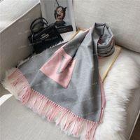 Mode Winter Warme Männer Damen Designer Schal Damen Pashmina Wolle Kaschmir Schals Luxus Marke Briefschal Für Frauen Decke Tasche