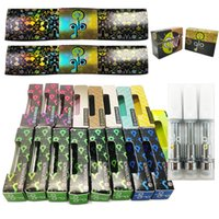 Glo Thick Oil Atomizers Carts Ceramic Vape Cartridges 0.8ml 1ml Atomizer 510 Thread 4*2.0mm Intake Holes GloExtracts Holographic Packaging Box Empty Vaporizer Pen