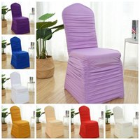 23 Couleurs Wedding Spandex Chair Couverture de chaise Lycra volée à éboutir la décoration de Banquet de partisol plissé