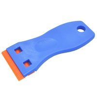 Plástico Azul Auto Scraper Blade Herramienta Coche Vidrio Stovetop Stevetop Pegatina Pegatina Instalación Tint Glue Gap Cleaner Sreen Scaregee Cuchillo