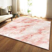 Blanco blanco mármol impreso cocina cocina grande alfombra para sala de estar tatami sofá colchoneta alfombra antideslizante tapis salón dywan 389 R2