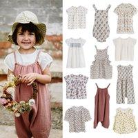 Kız Elbiseleri Kız Elbise 2021 Yaz LCC Marka Bebek Bebek Çiçek Nakış Kısa Kollu T-Shirt Toddler Çocuklar Pamuk Nefes Üstleri