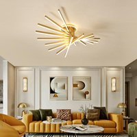 Chandeliers FKL Modern Chandelier Fan-shaped Creative LED Lights Dimmable Bedroom Living Room Hall Ceiling Lamps