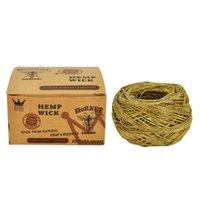 Cera de corda mais leve de tubulação de zangão embalada individualmente 30m / 60m (1 rolo) Combustão de suporte de cigarro Acessórios de fumar