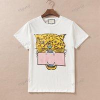Gucci T-shirt Verano t para mujer para hombre camisetas con letras conjuntos animal imprimido moda manga corta señora tee shirt casual tops ropa 2 colores S-2XL