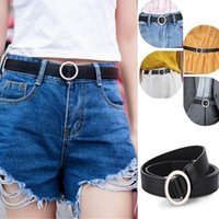 Belts Women's Belt Silver Buckle Waist Ladies Dress Jeans Skinny Leather Strap Kids High Quality Cinturon Mujer
