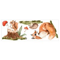 Wall Stickers 1 Set Funny Squirrel Designed Sticker Practical Decals For Kids Room Use