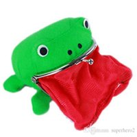 حقيبة أفخم الضفدع محفظة لينة محفظة تأثيري فروي كوين حالة الأخضر أنيمي أكياس الجدة أفخم سحر مفتاح للأطفال البالغين ncpbm