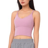 Yoga Outfits Woman Cross Back Bra V-Neck Hollow Out Breathable Solid Color Camisole Padded Proof Athletic Activewear Sports
