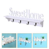 Hooks & Rails 1pc Home Wall-mounted Storage Rack With Hook For Office (White)
