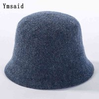 Stingy brim hats 2021 Fashion Wool Fedora Hat Women Effects Colour Simple Emmer For Female Herf Winter Used Fish J0910