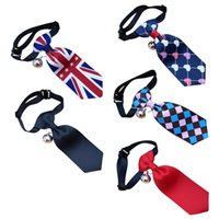 Dog Apparel Pet Tie Collar British Style Adjustable With Bell For Decoration Fitting Less Than 2-6kg