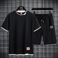 Designer Mens Torro girocollo Thirt T-shirt da due pezzi set moda estate nuovo casual sport pista tracksuit fitness sportswear uomini