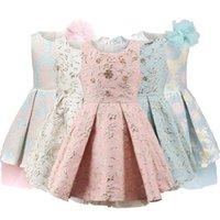 Childdkivy Girls Princess платье Детские платья для девочек Детские вечерние платья платье цветок девушка платья одежда 3-10Y Vestidos 210317