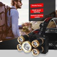 Bike Lights USB Rechargeable Zoom Led Headlamp Fishing Headlight Torch Hunting Head Lamp Camping Light