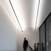 Strips Creative Linear Led Strip Wall Lamps Skyline Lights Living Room Decoration Background Decor Bathroom Steel Belt Lamp