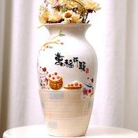 乳川ラッキーキャットセラミック折り紙花瓶フラワーポットバスケットダイニングテーブルホーム装飾工場盆栽モダンな花瓶
