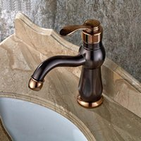 Bathroom Sink Faucets Copper Basin Faucet Mixer And Cold, Antique ORB Water Tap, Oil Rubbed Bronze Wash