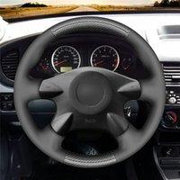 Schwarzer PU-Kohlenstofffaser-Auto-Lenkrad-Abdeckung für Nissan Almera X-Trail Primera