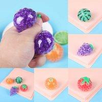Смешные Squishy Gel Bead Ball Fruits Sensosory Fidge Toys Anific Squeeze Vent Tomato Warmelon Оранжевый Виноград Садовые Шарики Аутизм Беспокойство Fidget Relief G8223Yi