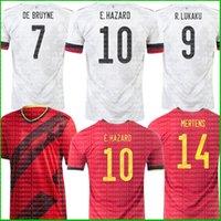 2021 بلجيكا كرة القدم الفانيلة دي بروين R. Lukaku E.Hazard 20 21 22 قميص كرة القدم Kompany Mertens Camiseta Futbol Witsel Tielemans Carrasco Maille