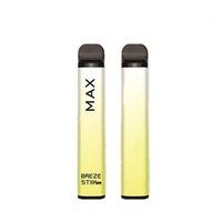 Original Breze Stiik max Disposable E Cigarette Kit 950mAh Battery 1800 Puffs 6ml Cartridge Cube Vape Pen Portable Vaporizer Pre-Filled Bar