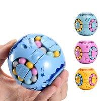 Juguetes educativos de descompresión de descompresión de frijoles pequeños Beads Fidget Spinner Magic Cube para niños unisex-niños