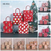 8 Style Christmas Gift Bag Paper Santa Claus packag-bags Party Favour Christmas Candy Handbags Xmas Cartoon Paper-bag T9I001560