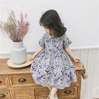 SK INS Newest Kids Little Girls Dresses Floral A-line Bountique Children Clothes Outfits
