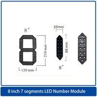 Module 8 Inchs7 Segmente LED-Anzeigennummer-Modul, LED-Uhr-Bildschirm / Ölpreis-Anzeigetafel, Highlight im Freien