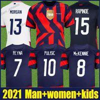 Fussball Jerseys 2021 Concacav Gold Cup McKennie Reyna Pulisic Football Hemden Brooks Dest National Team Hemd Amerika Rapinoe Morgan Frauen Jersey 21/22