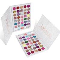Professional 40 Colors Metallic Glitter Sequins Eyeshadow Palette CAKAILA Cement Eye Shadow Plate Women Korea Makeup Comestics 10pcs lot DHL