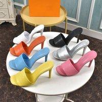 2021 desenhista moda chinelos renascimento mula salto alto sapatos mulheres sandálias sandálias preta rosa laranja azul marrom branco verão flip flops