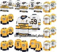 Inverno classico Nashville Predatori 35 Pekka Rinne 59 Roman Josi 9 Filip Forsberg 92 Ryan Johansen 17 Wayne Simmonds Maglie Hockey cucite