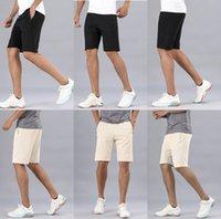 lulu men pant short pants gym quick dry loose drawstring elastic waist knee length beach designer lu sweatpants fintness trouser mens shorts