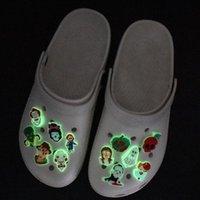 할로윈 스타일 신발 매력 어두운 두개골 신발 액세서리 장식 버클 구두 손목 밴드 DIY