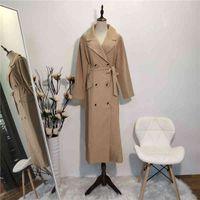 Plus Size Cardian Women Long Button Trench Coat Manteau Femme Hiver Casaco Feminino Gabardina Kimono Mujer Plaszcze Damskie