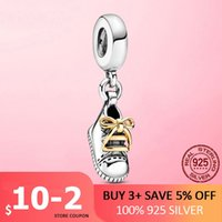 2021 New 925 Sterling Baby Shoe Swinging Charm Fits Pan Original Bracelet Necklace Diy 925 Silver Jewelry Present