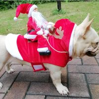 Cat-kostuums Kerstmiskleding Kerstman Grappige Pet Outfit Riding Holiday Party Dressing Up Clothing for Small Medium Large Dogs