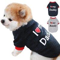 Kış Pet Köpek Giysileri Annemi Seviyorum / Baba Kazak Yavru Ceket Polar Sıcak T-shirt Giyim Köpekler için Kediler Chihuahua Giyim