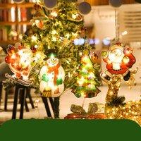 Christmas String Lights LED Decorative Novelty Hanging 3D Light for Indoor Windows Wall Door Bedroom Pathway Patio Decorations