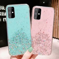 Bling Glitter Transparent Phone Cases For Samsung A72 A52 A42 A32 A22 4G 5G A12 A03s A02s A02 A71 A51 A31 A21 A21s A11 A01 Soft TPU Back Cover