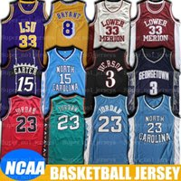 NCAA Kuzey Carolina Vince Michael Carter Taro Heel Jersey Allen Alt Iverson Merion Formalar LSU Earvin Oneal Johnson Basketbol Jesrey