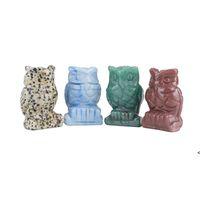 Crystal Gufo Arti e Artigianato Ornamenti Statua Desktop Un soggiorno Ornamento in stile cinese 1.5 pollici OWA6953