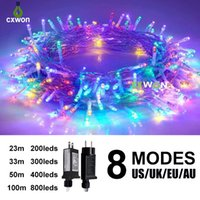 320FT 500LED 31V Low Voltage Waterproof Multicolor String Lights holiday lighting with 8 Modes for Indoor Outdoor Party Wedding Home Patio Lawn Garden Supplies
