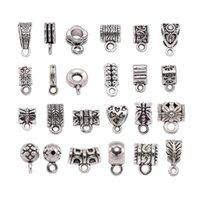 Antique Charm Bail Spacer Perlen Anhänger Clips Claspe-Anschlüsse für Armband Halskette Schmuckherstellung