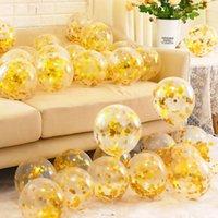 2021 الذهبي الشفاف مشرق قطعة بالون الزفاف رومانسية الديكور غرفة الزفاف المشهد عيد إمدادات الديكور حفلة عيد